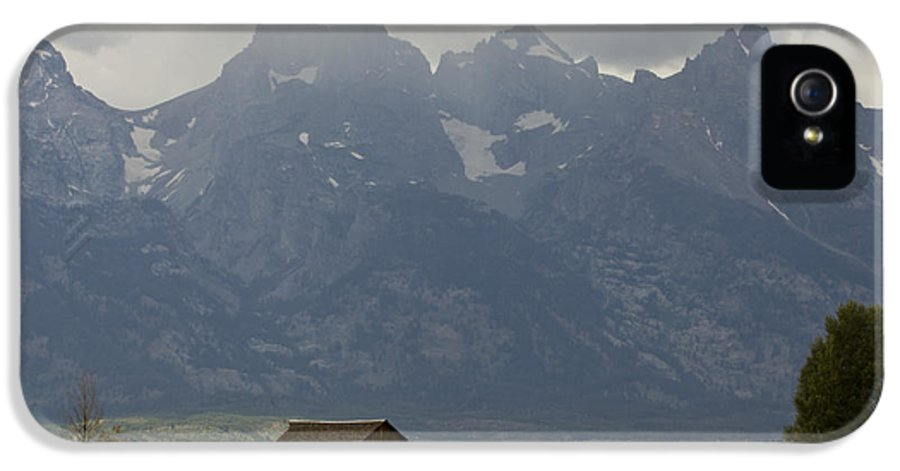 Grand Tetons IPhone 5 / 5s Case featuring the photograph Grand Tetons Jackson Wyoming by Dustin K Ryan