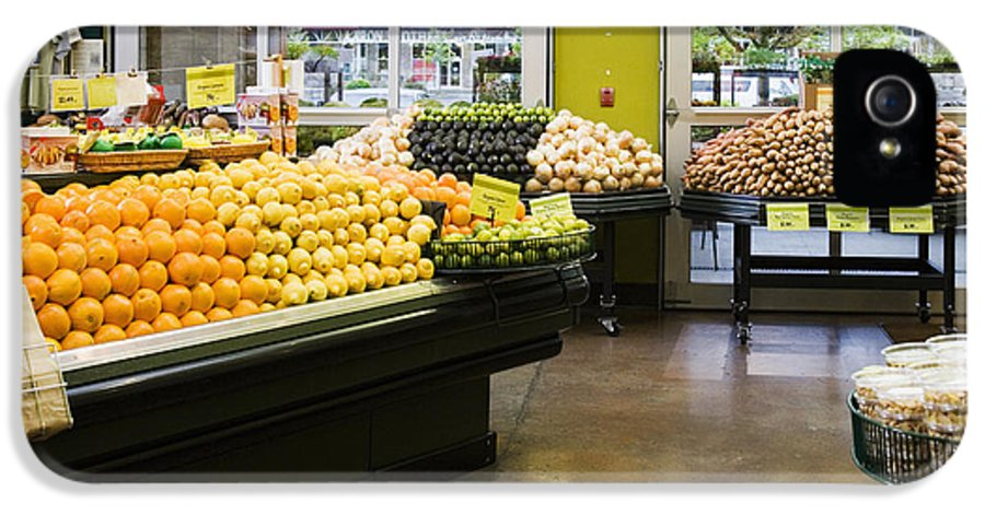 Business IPhone 5 / 5s Case featuring the photograph Grocery Store Produce Section by Andersen Ross