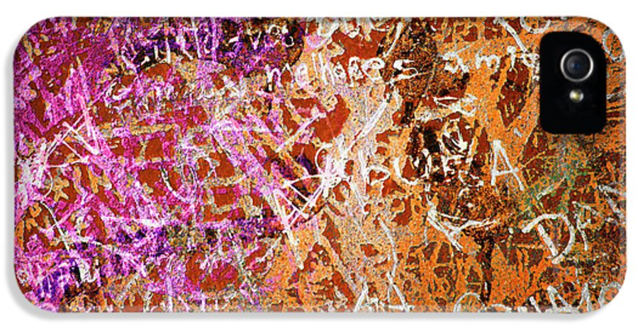 Abstract IPhone 5 / 5s Case featuring the photograph Grunge Background 3 by Carlos Caetano