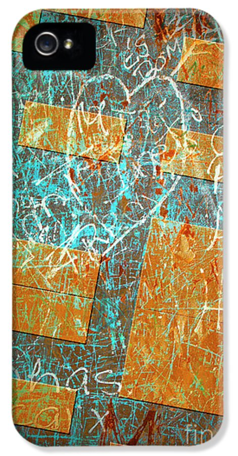 Abstract IPhone 5 / 5s Case featuring the photograph Grunge Background 6 by Carlos Caetano