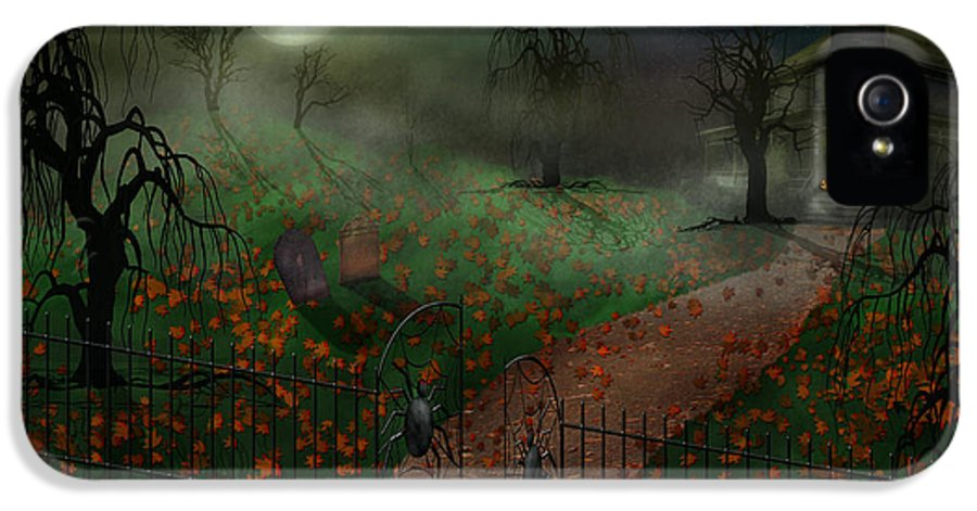 Hallows IPhone 5 / 5s Case featuring the photograph Halloween - One Hallows Eve by Mike Savad