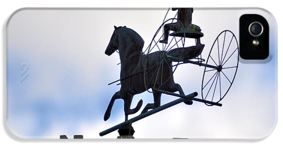 Horse And Buggy Weather Vane IPhone 5 / 5s Case featuring the photograph Horse And Buggy Weather Vane by Bill Cannon