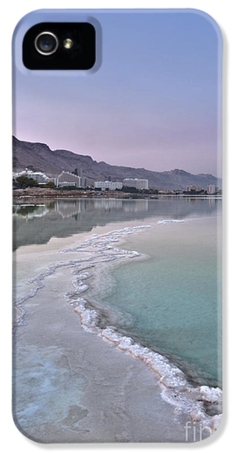 Architecture IPhone 5 / 5s Case featuring the photograph Hotel On The Shore Of The Dead Sea by Noam Armonn
