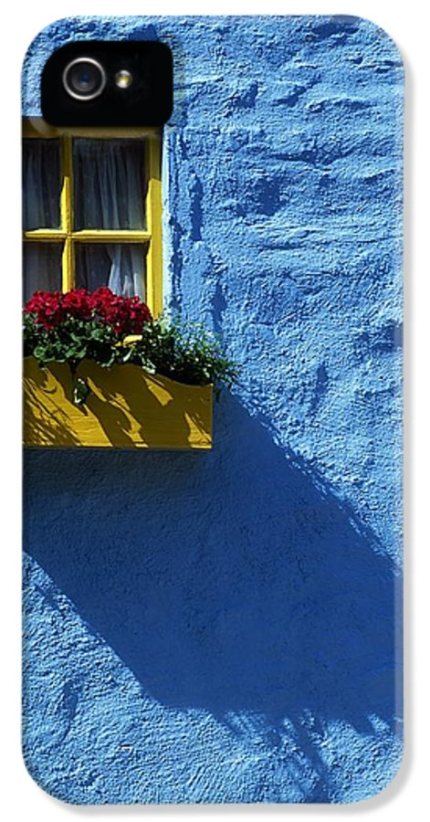 Blue IPhone 5 / 5s Case featuring the photograph Kinsale, Co Cork, Ireland Cottage Window by The Irish Image Collection