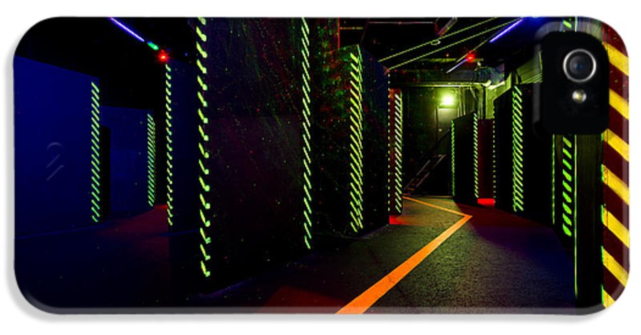 Recreational Pursuit IPhone 5 / 5s Case featuring the photograph Laser Game Area With Obstacles by Corepics