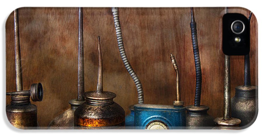 Machinst IPhone 5 / 5s Case featuring the photograph Machinist - Tools - Lubrication Dispensers by Mike Savad