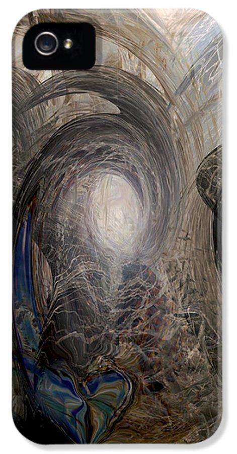 Digital Art IPhone 5 / 5s Case featuring the digital art Massive Attack by Linda Sannuti