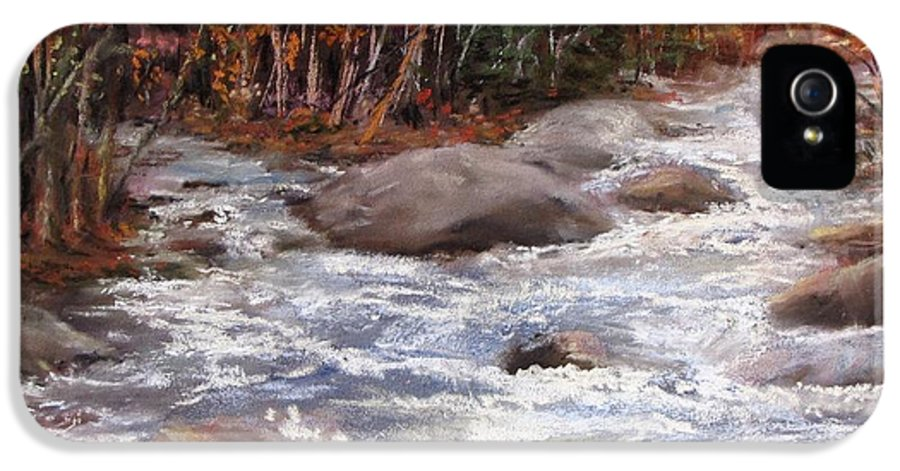 River IPhone 5 / 5s Case featuring the painting Meeting Of The Waters by Jack Skinner