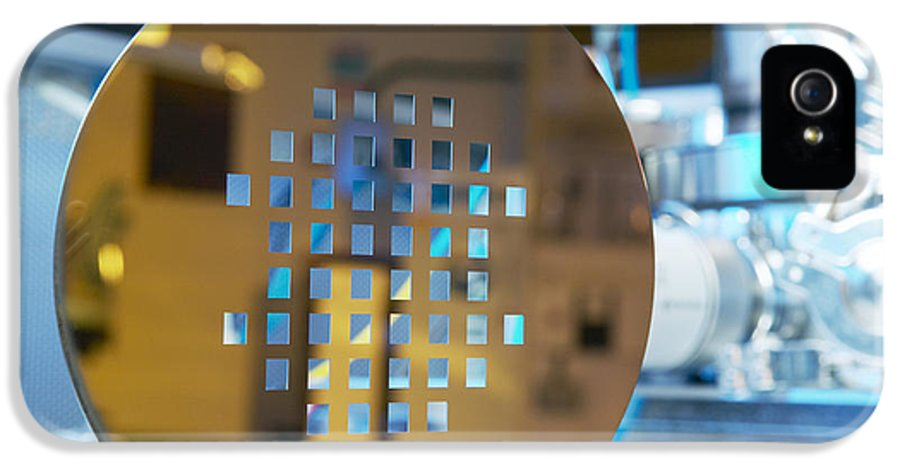 Wafer IPhone 5 / 5s Case featuring the photograph Mems Production, Machined Silicon Wafer by Colin Cuthbert