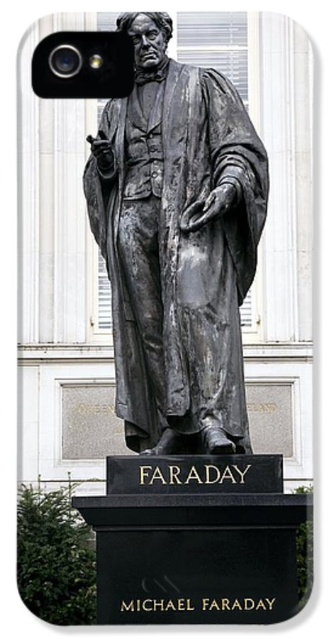 Michael Faraday IPhone 5 / 5s Case featuring the photograph Michael Faraday, British Physicist by Sheila Terry