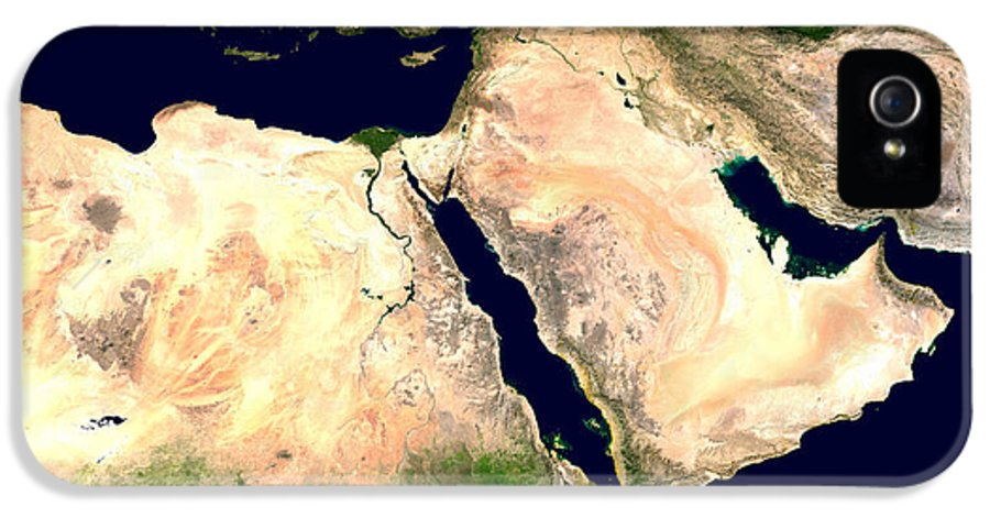 Middle East IPhone 5 / 5s Case featuring the photograph Middle East by Nasa