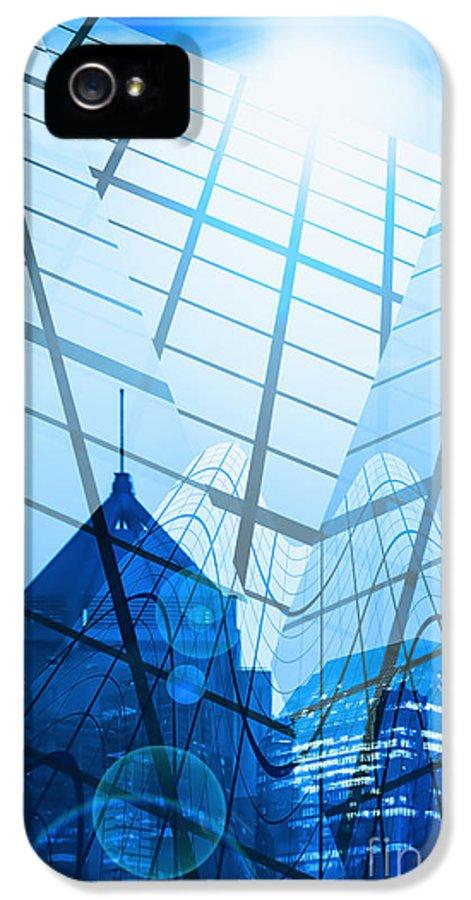Architecture IPhone 5 / 5s Case featuring the photograph Modern City by Setsiri Silapasuwanchai