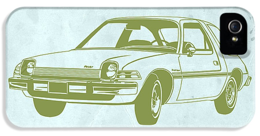 Auto IPhone 5 / 5s Case featuring the drawing My Favorite Car by Naxart Studio