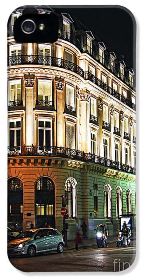 Attraction IPhone 5 / 5s Case featuring the photograph Night Paris by Elena Elisseeva