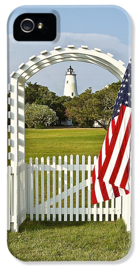 Ocracoke IPhone 5 / 5s Case featuring the photograph Ocracoke Lighthouse July 4th by Bill Swindaman
