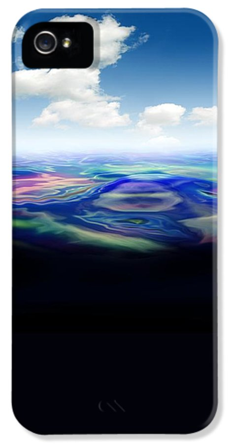 Illustration IPhone 5 / 5s Case featuring the photograph Oil Spill, Artwork by Victor Habbick Visions