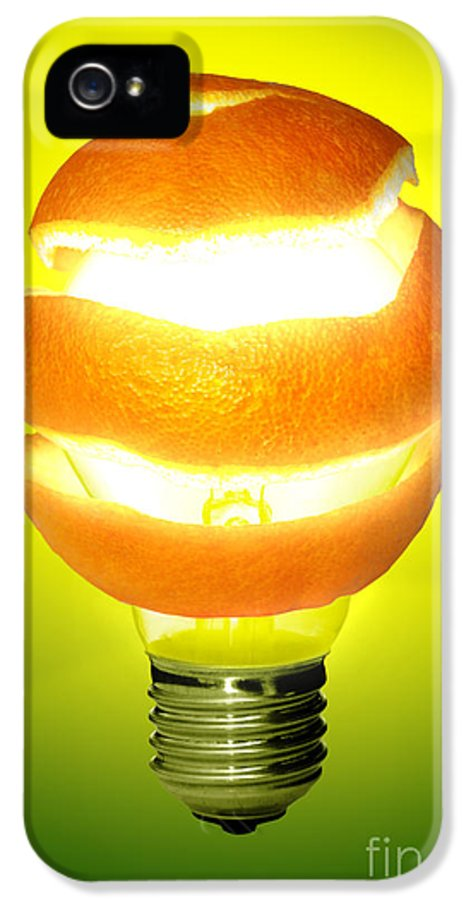 Abstract IPhone 5 / 5s Case featuring the photograph Orange Lamp by Carlos Caetano