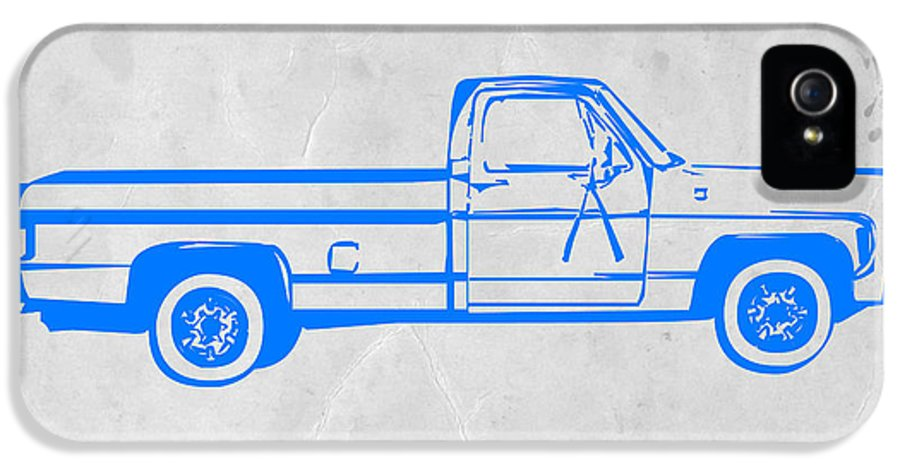 Pick Up IPhone 5 / 5s Case featuring the digital art Pick Up Truck by Naxart Studio