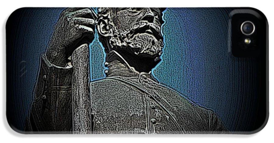 Civil War IPhone 5 / 5s Case featuring the photograph Portrait 30 American Civil War by David Dehner