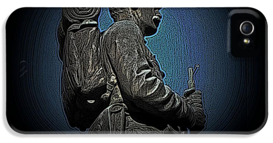 Civil War IPhone 5 / 5s Case featuring the photograph Portrait 31 American Civil War by David Dehner