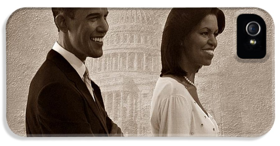 President Obama IPhone 5 / 5s Case featuring the photograph President Obama And First Lady S by David Dehner