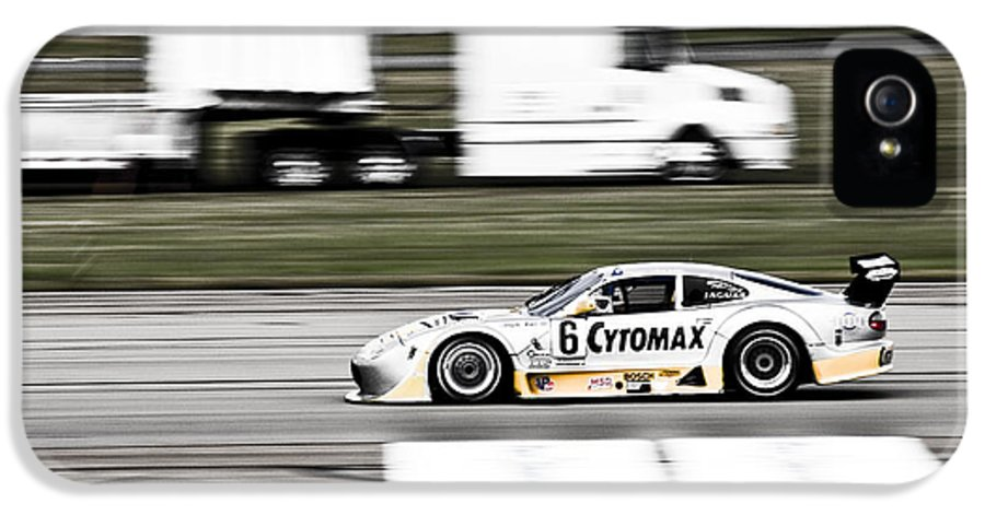 People IPhone 5 / 5s Case featuring the photograph Racing By by Darcy Michaelchuk