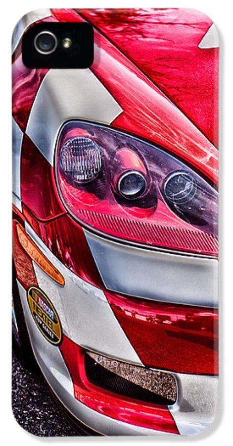 Corvette IPhone 5 / 5s Case featuring the photograph Red Corvette by Lauri Novak