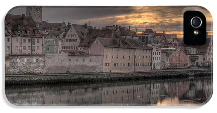 City IPhone 5 / 5s Case featuring the photograph Regensburg Cityscape by Anthony Citro