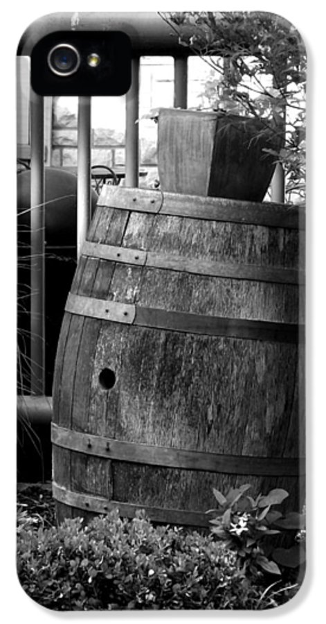 Black IPhone 5 / 5s Case featuring the photograph Roll Out The Barrel by Shelley Blair
