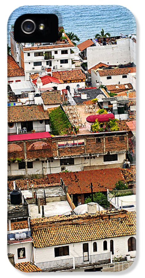Puerto Vallarta IPhone 5 / 5s Case featuring the photograph Rooftops In Puerto Vallarta Mexico by Elena Elisseeva