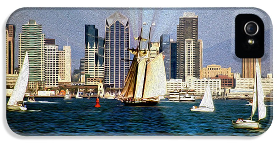 San Diego Bay IPhone 5 / 5s Case featuring the photograph Saturday In San Diego Bay by Cheryl Young