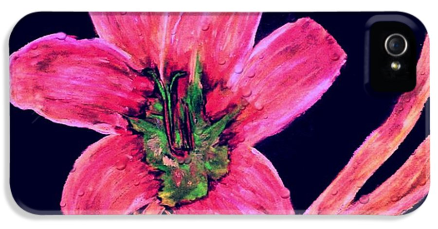 Flower IPhone 5 / 5s Case featuring the drawing Spring Time by Melvin Moon