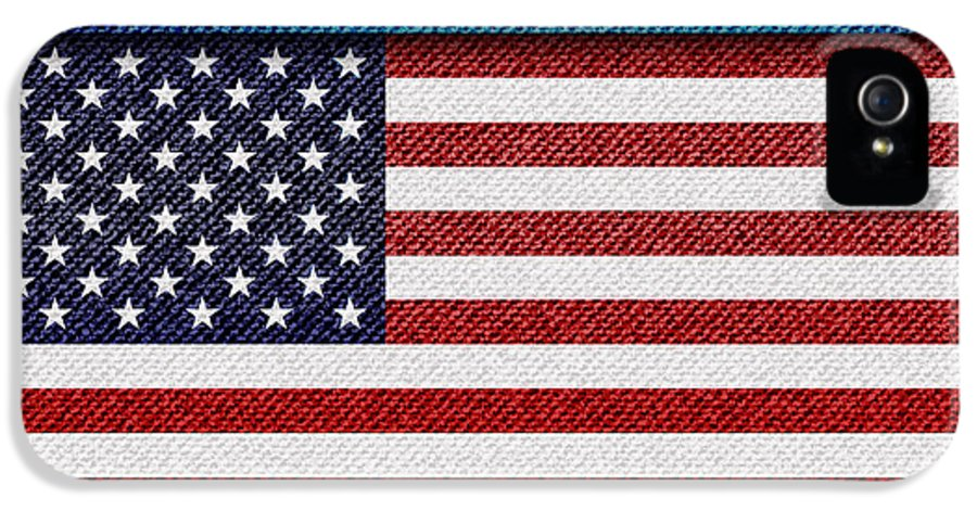 Background IPhone 5 / 5s Case featuring the photograph Stars And Stripes Denim by Jane Rix