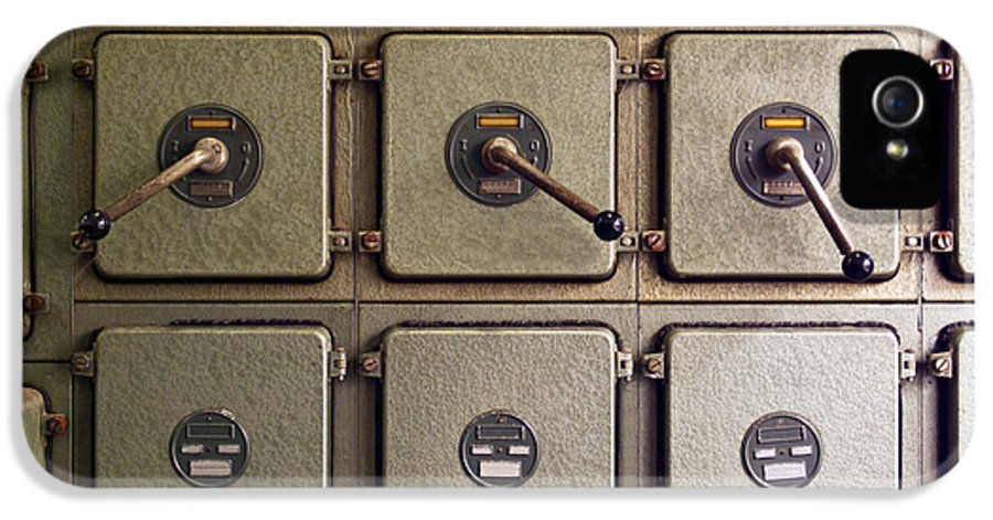 Automation IPhone 5 / 5s Case featuring the photograph Switch Panel by Carlos Caetano