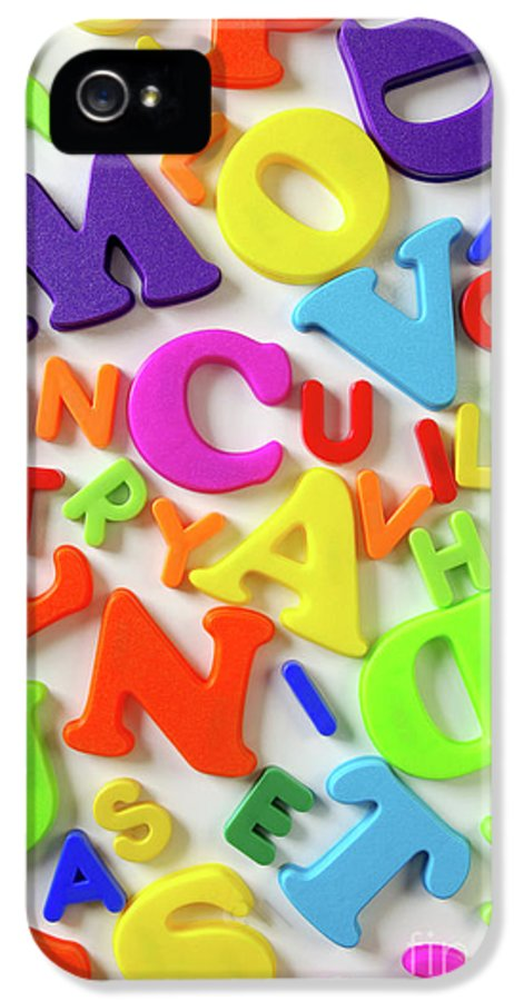 Abc IPhone 5 / 5s Case featuring the photograph Toy Letters by Carlos Caetano