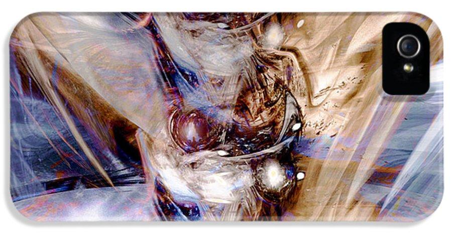 Digital Art IPhone 5 / 5s Case featuring the digital art Universal Wings by Linda Sannuti