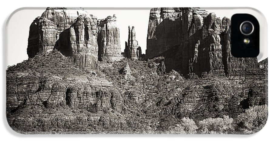 Vintage Cathedral Rock IPhone 5 / 5s Case featuring the photograph Vintage Cathedral Rock by John Rizzuto