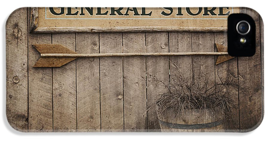 Aged IPhone 5 / 5s Case featuring the photograph Vintage Sign General Store by Jane Rix