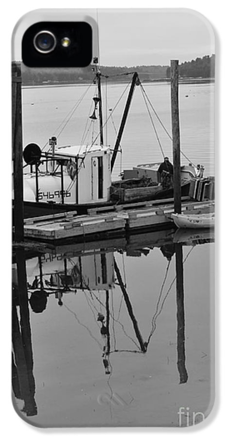 Wiscasset IPhone 5 / 5s Case featuring the photograph Wiscasset Reflection by Catherine Reusch Daley