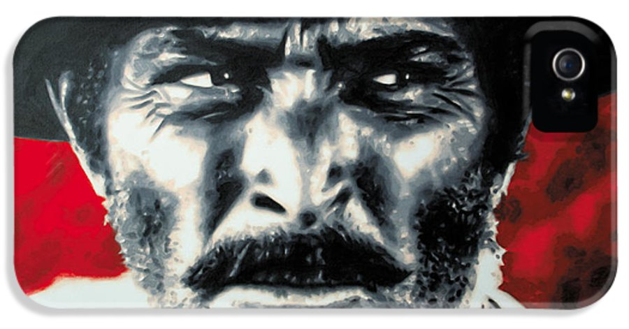 Ludzska IPhone 5 / 5s Case featuring the painting - The Good The Bad And The Ugly - by Luis Ludzska
