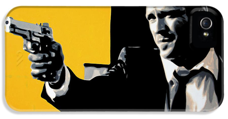 Michael Madsen IPhone 5 / 5s Case featuring the painting - Mr Blonde - by Luis Ludzska