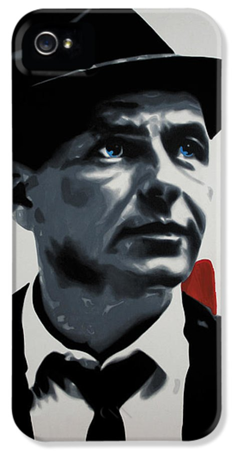 Ludzska IPhone 5 / 5s Case featuring the painting - Sinatra - by Luis Ludzska