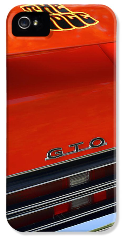 1967 IPhone 5 / 5s Case featuring the photograph 1969 Pontiac Gto The Judge by Gordon Dean II