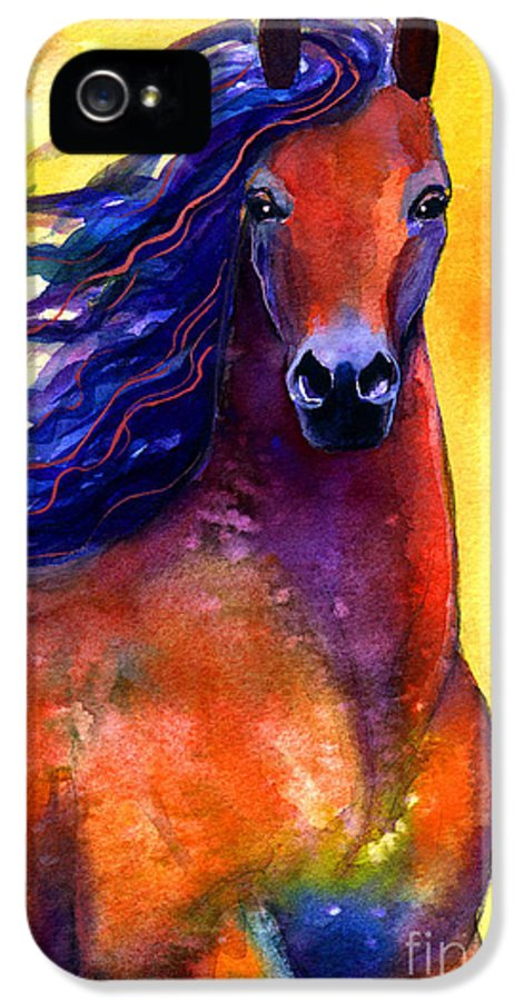 Horse IPhone 5 / 5s Case featuring the painting Arabian Horse 1 Painting by Svetlana Novikova