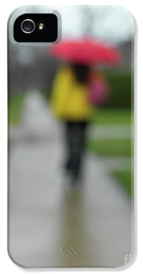 Rainy Day IPhone 5 / 5s Case featuring the photograph People In The Rain by Oleksiy Maksymenko
