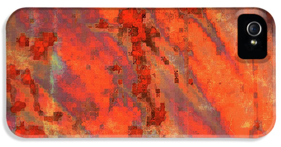 Digital Art IPhone 5 / 5s Case featuring the photograph Rust Abstract by Carol Groenen