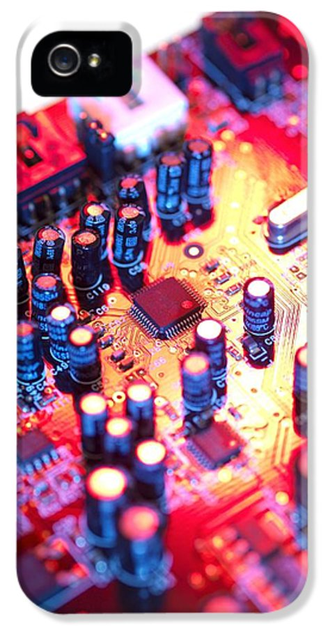 Circuit Board IPhone 5 / 5s Case featuring the photograph Circuit Board by Tek Image