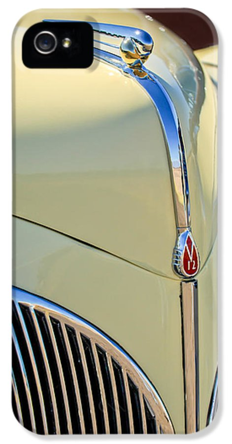 1941 Lincoln Continental Cabriolet V12 IPhone 5 / 5s Case featuring the photograph 1941 Lincoln Continental Cabriolet V12 Grille by Jill Reger