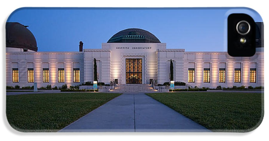 3scape Photos IPhone 5 / 5s Case featuring the photograph Griffith Observatory by Adam Romanowicz