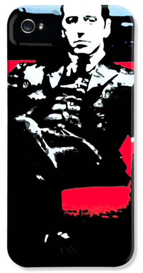 Ludzska IPhone 5 / 5s Case featuring the painting The Godfather by Luis Ludzska